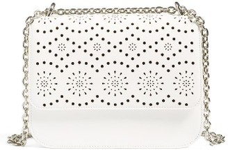 Chelsea28 Dahlia Perforated Faux Leather Shoulder Bag - White $69 thestylecure.com