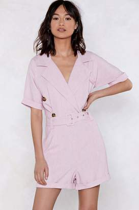 Nasty Gal You Belt My Heart Tailored Romper