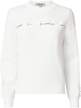 Thierry Mugler Embellished White Pullover