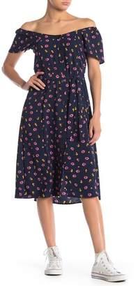 Velvet Torch Button Front Dress