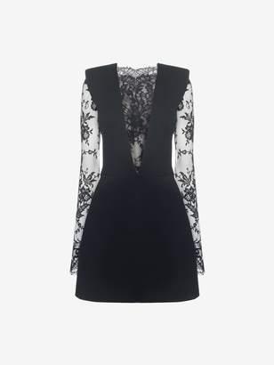 Alexander McQueen Sarabande Lace Mini Dress