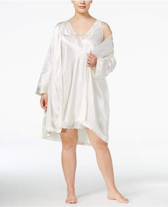 Thalia Sodi Plus Size Satin Wrap Robe