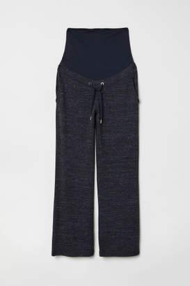 H&M MAMA Fine-knit Pants - Blue