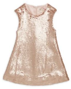 Little Girl's & Girl's Neve Sequined Dress $68 thestylecure.com