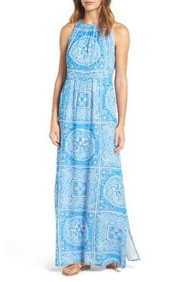 Women's Vineyard Vines Sand Dollar Print Maxi Dress $228 thestylecure.com