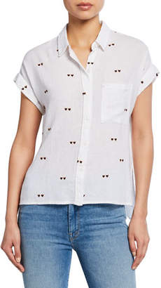 Rails Whitney Hearts Button-Front Shirt