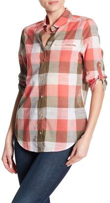 Foxcroft Reese Checkered Blouse