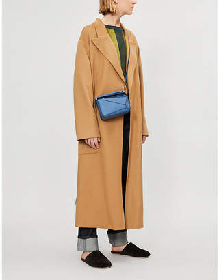 Loewe Botanical belted wool and mohair-blend coat