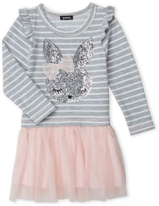 Zunie (Girls 4-6x) 2fer Sequin Bunny Tutu Dress