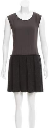 Hache Sleeveless Pleated Dress