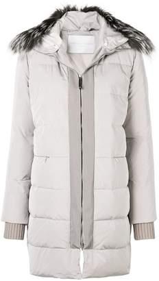 Fabiana Filippi fur collar duffle coat