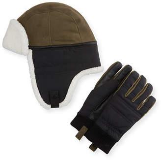 UGG Men's Mixed Media Hat & Glove Gift Set