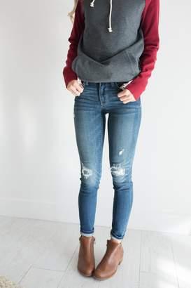 Flip Patch Destroyed Jeans
