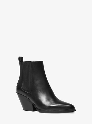 Michael Kors Sinclair Leather Ankle Boot