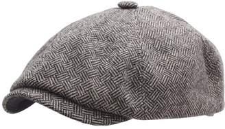 Stetson Men's Kennett Basket Weave Flat Cap Size 59 cm