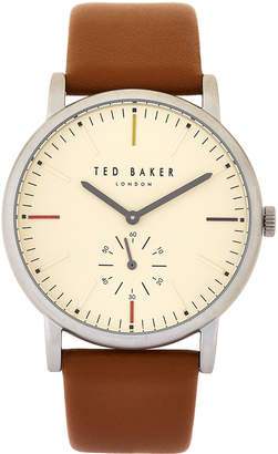 Ted Baker TE50072002 Brown & Silver-Tone Nolan Watch