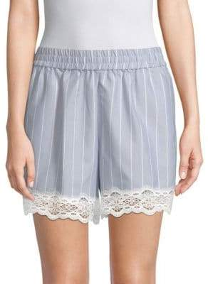 Jonathan Simkhai Striped Cotton Poplin Shorts