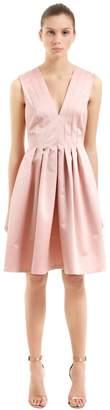 Rochas Pleated Duchesse Satin Dress