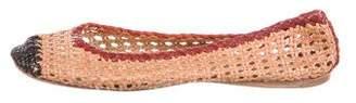 Prada Leather Braided Flats