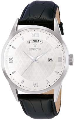 Invicta Men's 12242 Vintage Analog Display Swiss Quartz Black Watch