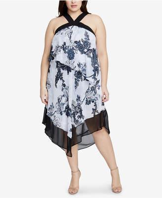 Rachel Roy Plus Size Printed Halter Dress