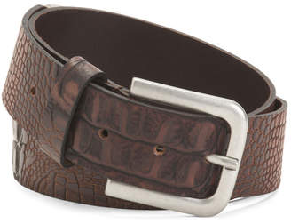 Made In Italy Leather Croc Belt
