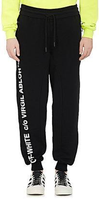 Off-White c/o Virgil Abloh Men's Cotton Fleece Oversized Sweatpants $490 thestylecure.com
