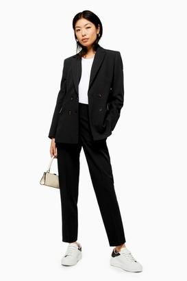 Topshop Womens Black Suit Trousers - Black