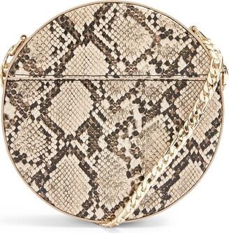 Topshop Gee Circle Faux Leather Shoulder Bag