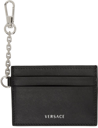 Versace Black Clip-On Chain Card Holder $295 thestylecure.com