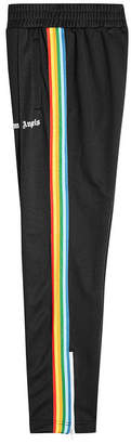 Palm Angels Rainbow Track Pants with Zipped Ankles