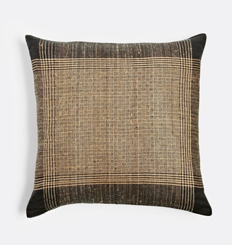 Rejuvenation Plaid Handspun Raw Silk Pillow Cover