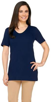 Liz Claiborne New York Essentials Short Sleeve U-Neck Tunic
