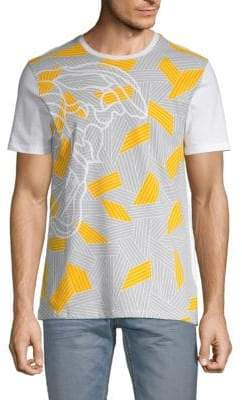 da3aee21 Versace Abstract Colorblock Graphic Tee