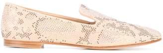 Giuseppe Zanotti Design snake effect micro-stud loafers