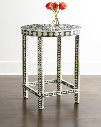 Horchow Mia Inlay Accent Table