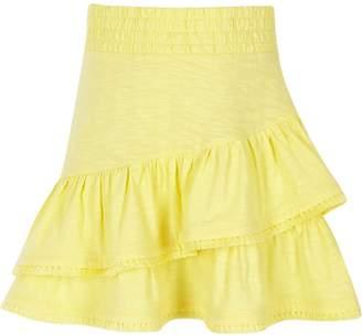 River Island Girls Yellow tassel hem skirt