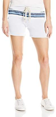 Monrow Women's Vintage Shorts with Burlap Stripe