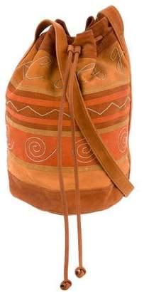 Carlos Falchi Suede Bucket Bag