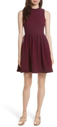 Women's Kate Spade New York Ruffle Trim Fit & Flare Dress