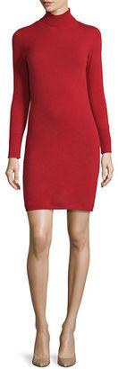 Neiman Marcus Cashmere Long-Sleeve Turtleneck Dress $350 thestylecure.com