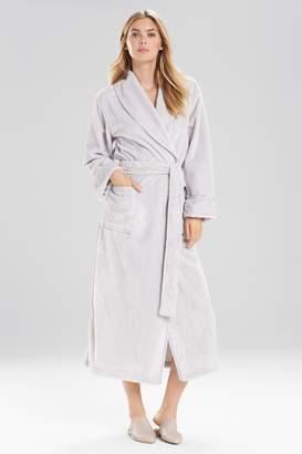 Natori Plush With Satin Twill Robe