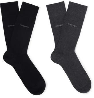 HUGO BOSS Two-Pack Stretch Cotton-Blend Socks - Men - Black