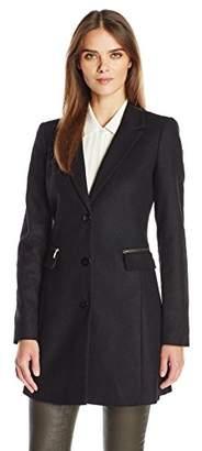 Armani Jeans Women's Melton Wool Long Coat