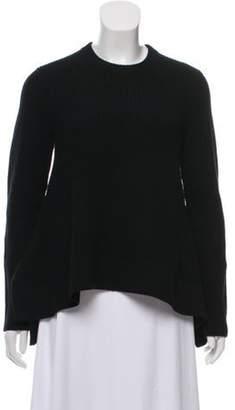 Proenza Schouler Wool-Blend Crew Neck Sweater Black Wool-Blend Crew Neck Sweater