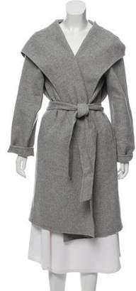 Max Mara Weekend Virgin Wool Hooded Coat