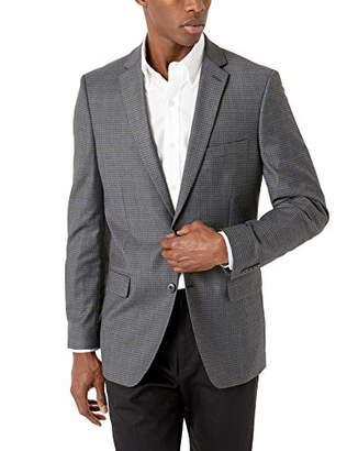 Haggar Men's Mini Plaid Tailored Fit Sport Coat