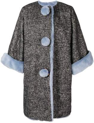 Dolce & Gabbana fur-trim oversized coat