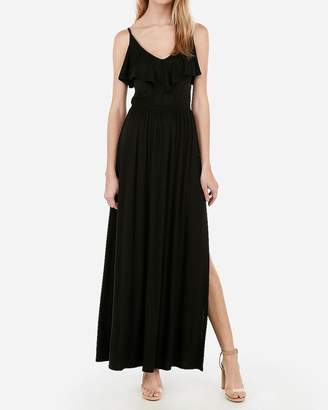 Express Ruffle Front Stretch Maxi Dress