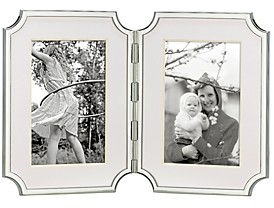 Sullivan Street Hinged Double Silverplated Frame, 4 x 6